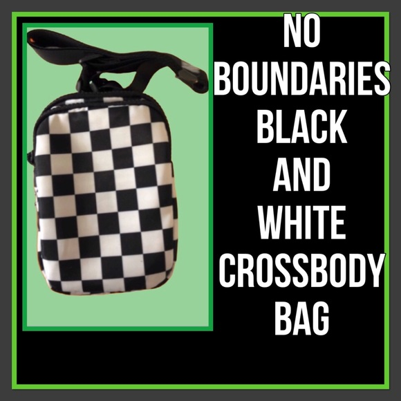 No Boundaries Handbags - No Boundaries Black and White Crossbody Purse